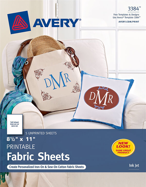image about Printable Fabric Sheets for Quilting identify Avery® Printable Cloth-3384