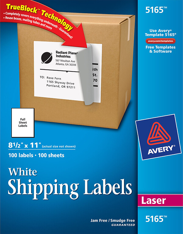 Avery white shipping labels with trueblock technology 5165 avery avery white shipping labels with trueblock technology 5165 saigontimesfo