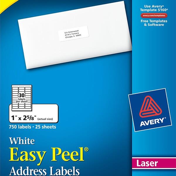 avery easy peel white address labels 5260 avery online singapore