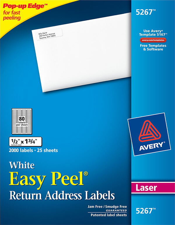 avery easy peel white return address labels 5267 avery online