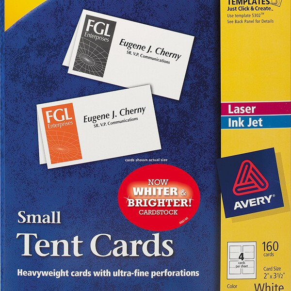 avery u00ae small tent cards-5302