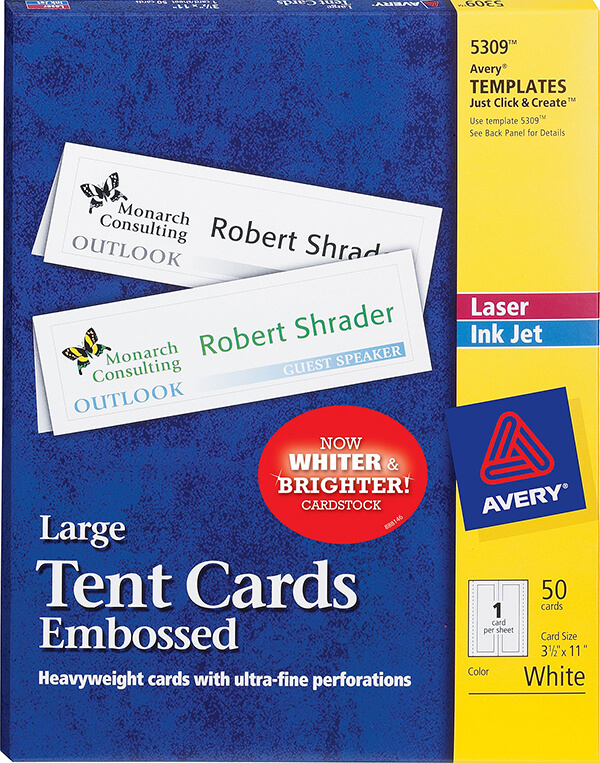 Avery Tent Cards Kleobeachfixco - Avery name tent template
