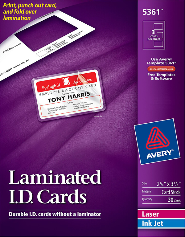 avery laminated id cards 5361 avery online singapore