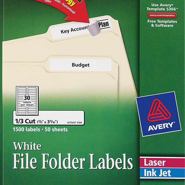 avery u00ae white file folder labels-5366