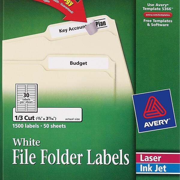 Avery White File Folder Labels 5366 Avery Online Singapore