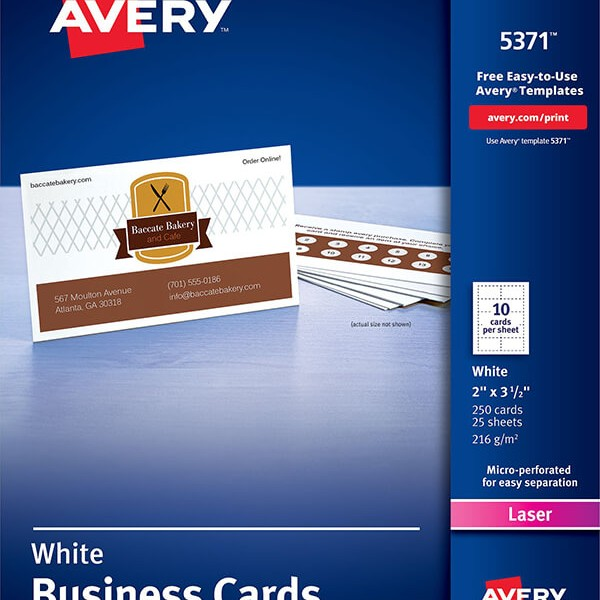 avery174 business cards for laser printers5371 avery