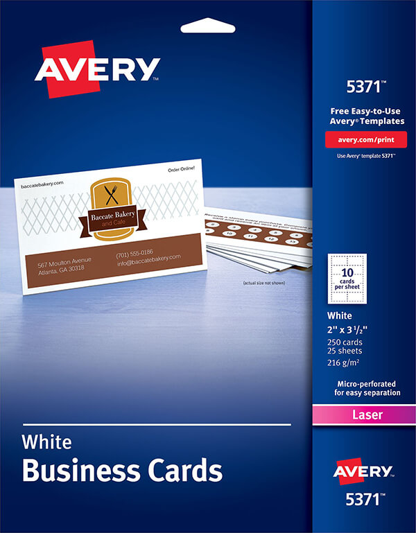 Avery business cards for laser printers 5371 avery online singapore avery business cards for laser printers 5371 reheart Images