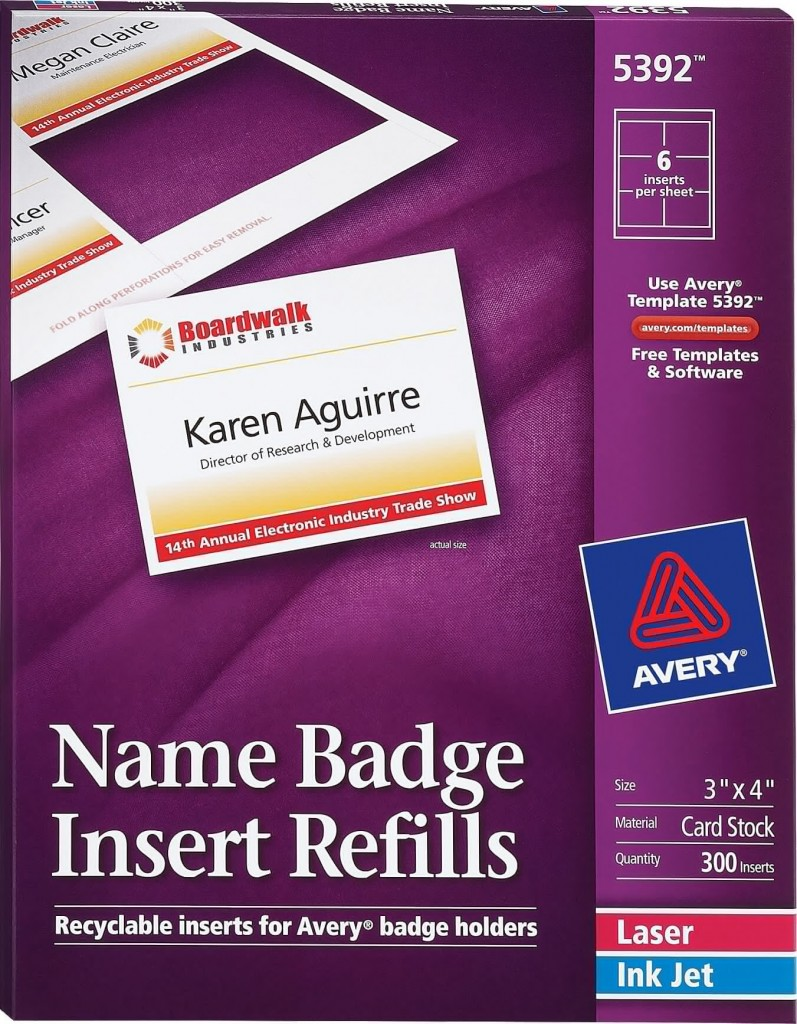 avery id badge template - avery name badge inserts 5392 avery online singapore