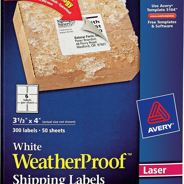 Avery® White WeatherProof™ Labels-5524 - Avery Online Singapore