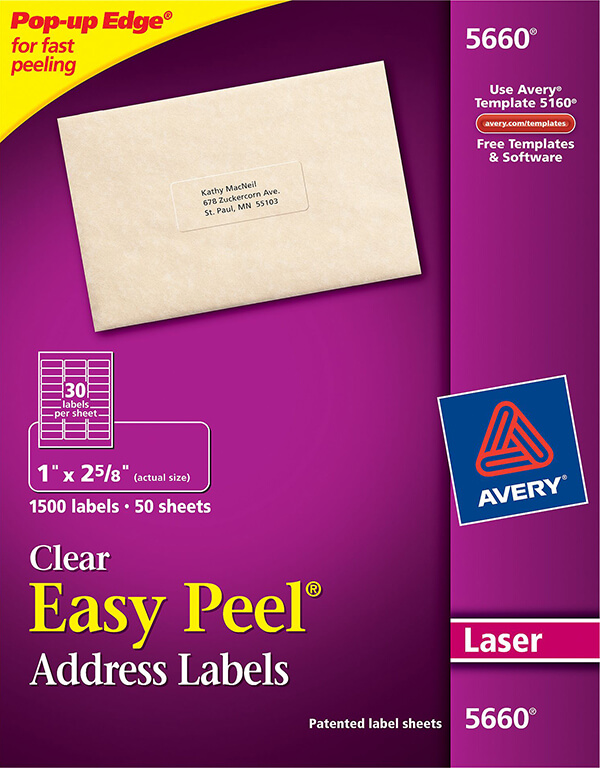 Avery Labels Template 5660 from averyonline.com.sg