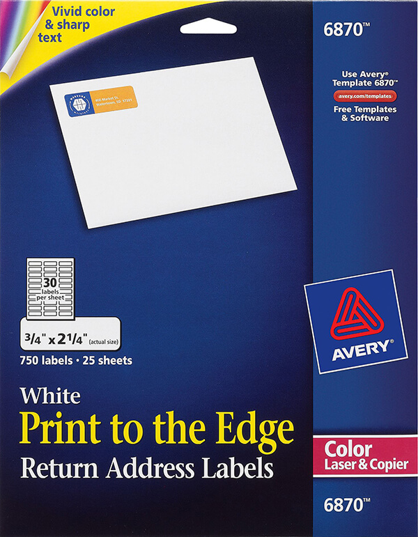 avery 6870 template - avery print to the edge return address labels 6870