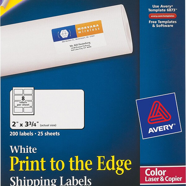 Averyu00ae Print-to-the-Edge Shipping Labels-6873 - Avery ...