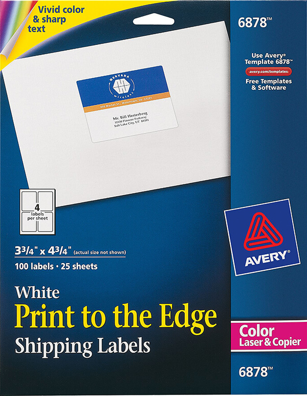 Avery Print To The Edge Shipping Labels 6878 Avery Online Singapore