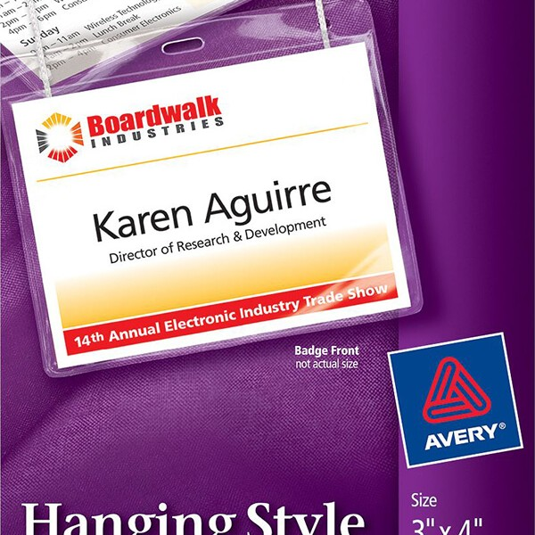 Avery Hanging Name Badges Top Loading 74520 Avery Online Singapore