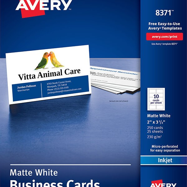 Avery business cards for inkjet printers 8371 avery online singapore avery business cards for inkjet printers 8371 reheart Choice Image