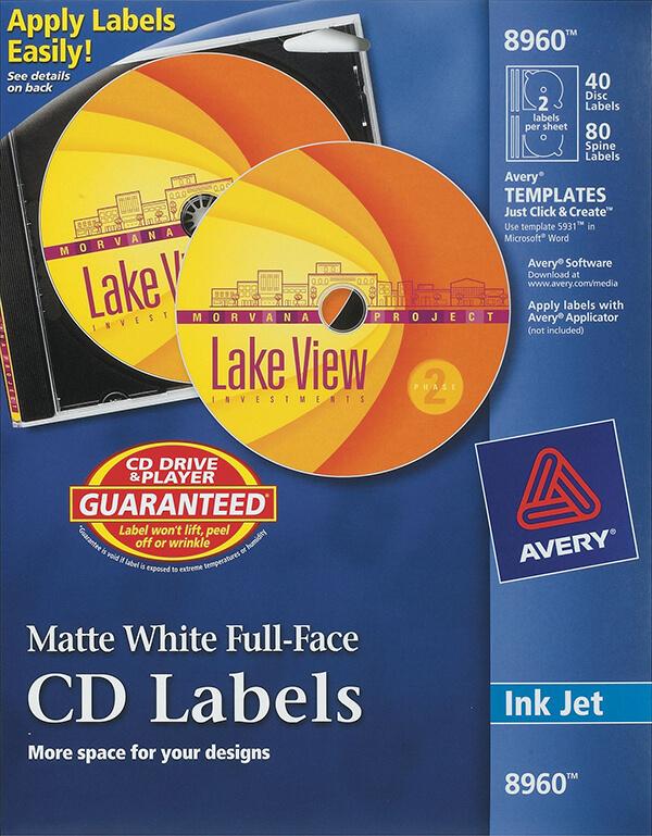 microsoft office cd label template 5931