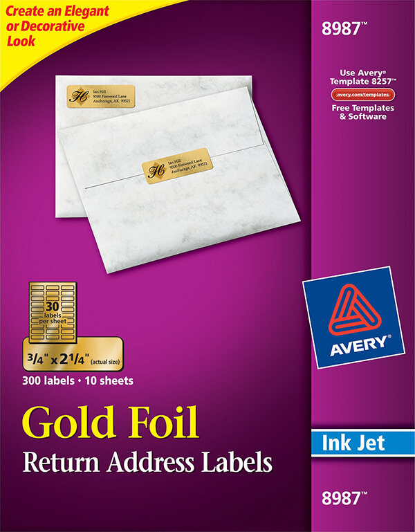 avery gold foil mailing labels 8987 avery online singapore