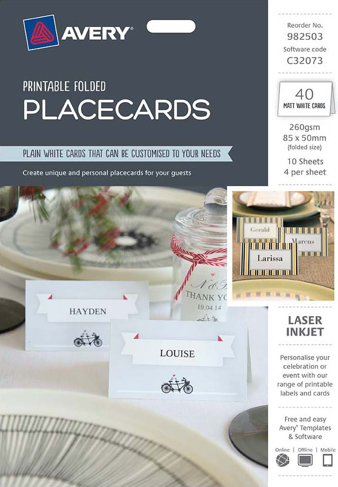avery placecards