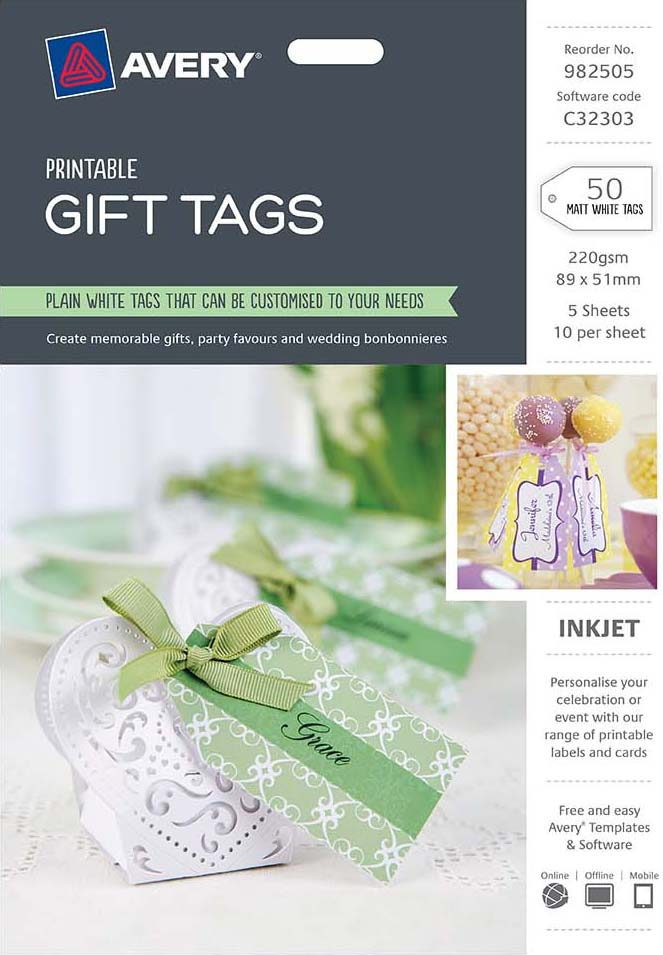 avery white printable gift tags 982505 avery online singapore