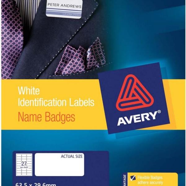 avery u00ae silver fabric name badge labels-l4784-15