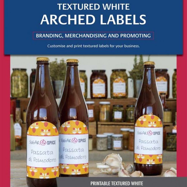 avery textured white arched product labels l7128 10