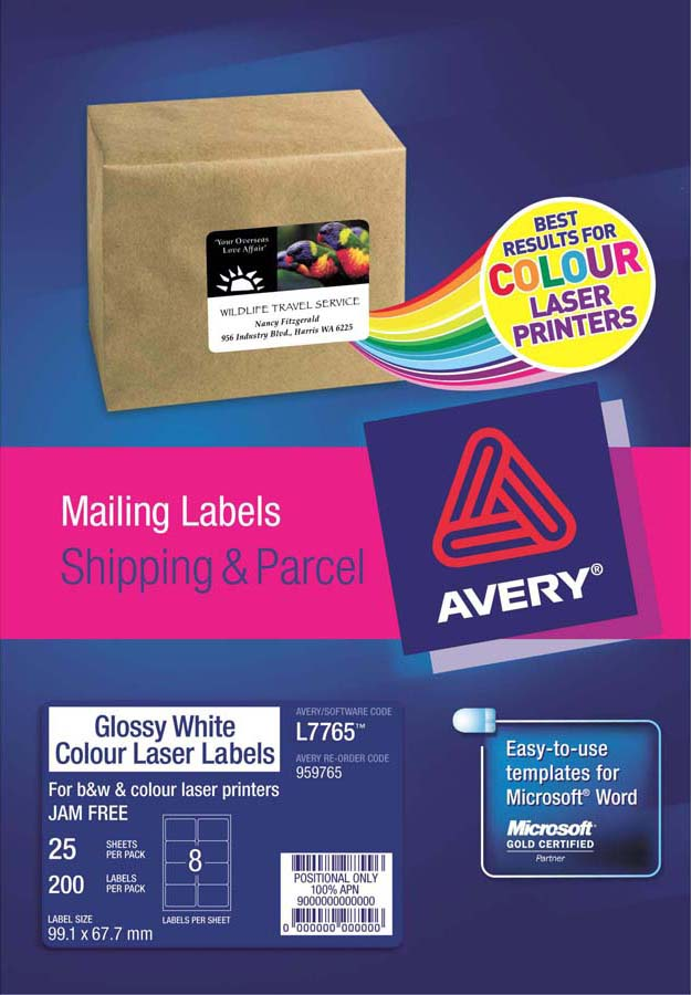 Avery glossy white photo quality labels l7765 25 avery online avery glossy white photo quality labels l7765 25 reheart Choice Image