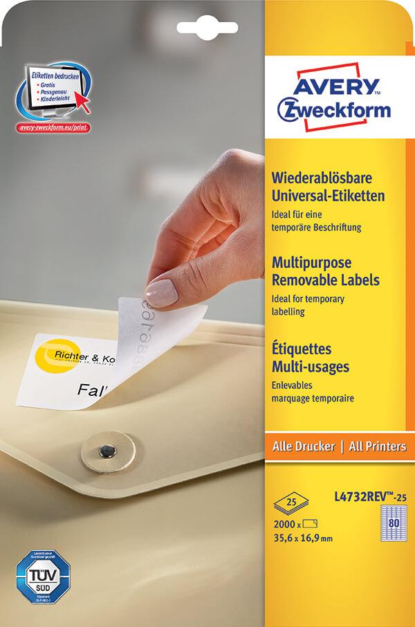 avery zweckform u00ae removable multipurpose label